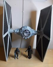 Star Wars 2003 Large Wing Grey Tie Fighter with Figures