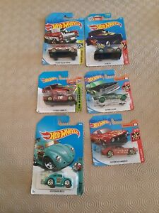 Hot Wheels Diecast Cars Bundle Job Lot x6 - Ford, Chevy, Flames