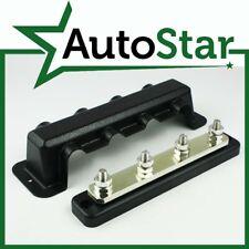4 Way 250A Bus-Bar & Cover 4x8mm Studs 12v 24v Power Distribution Block Volt AMP