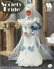 Society Bride Wedding Gown Crochet Barbie Fashion Doll Dress Annie's Pattern NEW