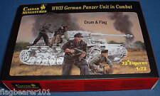 CAESAR SET #85 - WW2 GERMAN PANZER UNIT IN COMBAT. 1/72 SCALE PLASTIC