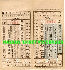 LIRR Ferry Gate ticket 34th Street circa 1900