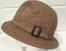 Vintage Pendleton Wool Hat Fedora Brown Tweed Buckle 7 Hipster