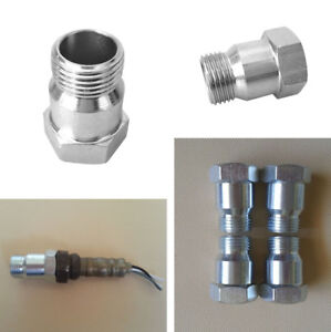 M18 X 1.5 Hex Head O2 Oxygen Sensor Extension Spacer Adapter Test Pipe Metal x4