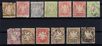 P135605/ BAYERN, OLD GERMANY – YEARS 1868 - 1890 USED CLASSIC LOT – CV 180 $