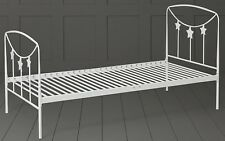 Tesco Kids Star Single Metal Bed Frame with Headboard & Footboard (Cream)