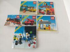Set of 4 Vintage Legoland 66xx Manuals and 2 Leaflets