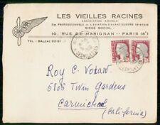 Mayfairstamps France 1960 Les Vieilles Racines Paris Cover wwh_31809