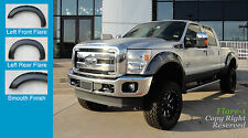 FENDER FLARES RIVET Style 2011-2015 Ford F-250, F-350 Super Duty PAINTABLE Fsh