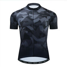 2021 New Mens Bike Cycling Jersey Black Short Sleeve Tops Bicycle Shirts Pocket