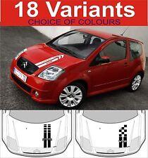 Citroen C2 Motorhaube Streifen Aufkleber C2 VTR VTS Auswahl von Design