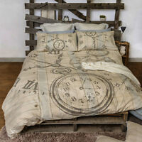 Bedtime Neutral Duvet | Doona Quilt Cover Set | Retro Home | Nostalgic & Gentle