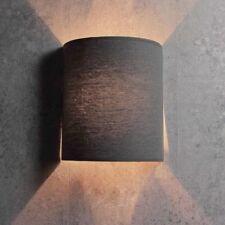 Moderne Loft Wandleuchte in grau E27 Stoffschirm Wandlampe Lampen Leuchten