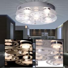 LED Decken Leuchte Wohn-Ess-Zimmer Beleuchtung Chrom Lampe Glas Kristalle WOFI