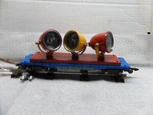 American Flyer compatable TRIPLE searchlight circus flatcar