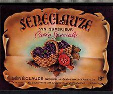 Etiquette de Vin - Seneclause-Marseille - Cuvée Spéciale - Réf.n°285