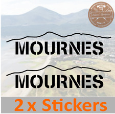 Mournes Mountain Stickers - 4x4 climbing camper RV off road