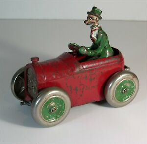 1920s CAST IRON ANDY GUMP AND OLD 348 AUTOMOBILE TOY IN ORIGINAL PAINT By ARCADE