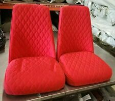 2 Red Cushion Upholstered Bar Stools Pub Chairs Man Cave/Kids Room Chairs/Seats