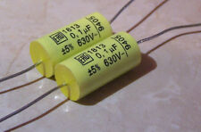 2 x Ero Roederstien Vishay MKT1813 series 0.1uf 630v Capacitors