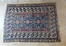 """Antique Lesghi Caucasian Oriental Rug 3'11' x 5'3"""""""