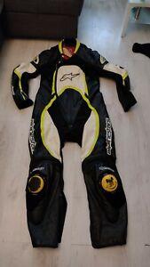 Alpinestars 1 Piece Leather Suit Orbiter Black Yellow  EUR 56 US 46
