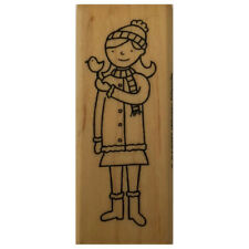 A-muse WINTER FRIENDS Wood Mounted Rubber Stamp Christmas