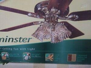 """Hunter Westminster 28074 """"52"""" Ceiling Fan w/Light"""