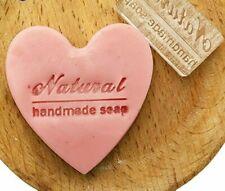 Handmade Clear Soap Stamp with Handle Natural Text Patterns Molder Glass Acrylic