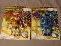 2x Transformable Dino-Robot Robotsaur Action Figur / verwandelbar - Neu Moc