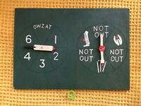 Beautiful Vintage Hand Made Wooden cricket Spin Boardgame