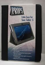 Props Leatherette Folio Case for Sony Tablet S 9.4 Black: Brand New- T2