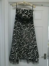 Warehouse strapless dress size 14 prom party wedding special occasion blk cream