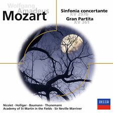 Mozart Sinfonia Concertante KV 297b Gran Partita KV 361 CD