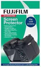 "Original Fuji Fujifilm 2.7 ""LCD Cámara Digital Protector De Pantalla (paquete De 3)"