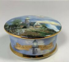 "Thomas Kinkade Music Box ""A Light In The Storm"" 1998 No. 3627B"