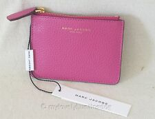 NWT Auth Marc Jacobs The Essential Leather Key Chain Coin Purse Pouch Pink