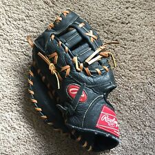 New listing Rawlings RENEGADE RSFB Black Leather First Baseman Glove LHT Left Hand Baseball