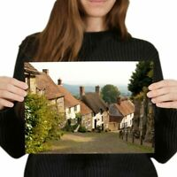A4 - Thatched Houses Dorset England Poster 29.7X21cm280gsm #16121