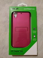 PINK HTC Desire 555 case 2 Piece Kickstand Shield Case & screen protector.