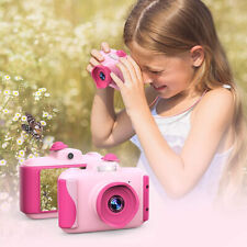 Kids Digital Camera 2.4 Inch Screen Birthday Gifts for Girls Age 3-10 Pink