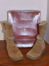 Predictions Leather Boot Size 7 Faux Fur Trim