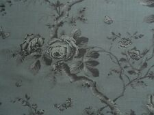 Ralph Lauren Curtain Fabric ASHFIELD FLORAL 0.7m Tarnished Steel Linen 70cm