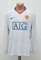 MANCHESTER UNITED 2008/2009 AWAY FOOTBALL SHIRT NIKE LONG SLEEVE SIZE L ADULT
