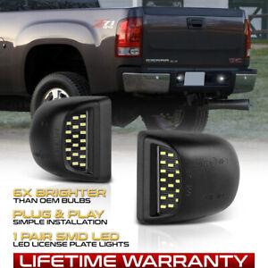[BRIGHTEST] 99-13 GMC Sierra 1500 2500HD 3500HD LED License Plate Light Housing