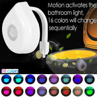 16 Colors LED Motion Sensor Toilet Light Operated Bright Night Lamp Waterproof