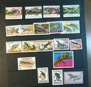 Stamp Lot of Lizards Mint L396