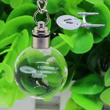 3D Kristall Star Trek USS Enterprise LED Base Laser Geschenk Schlüsselanhänger