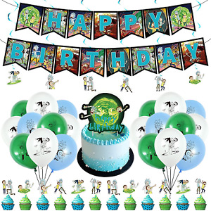 Rick and Morty Birthday Party Supplies,Rick and Morty Party Decorations,Rick and