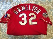 2010 SIGNED & INSCRIBED JOSH HAMILTON GAME USED POST SEASON JERSEY-MLB/JSA